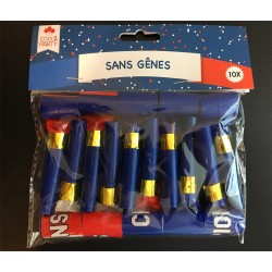 Lot de 10 Sans Gênes ''Bleu Blanc Rouge''