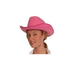 Chapeau Cowboy Dallas - feutre rose