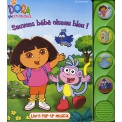 Dora sauve l'oiseau bleu - Livre musical